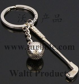 Golf Sports Keychains, Golf Ball Keychains, Golf Bar Keychains