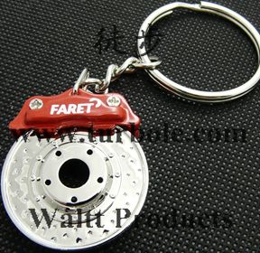 Creative Hot Sale Disc Brake Shape Auto Parts Keychain Key Chain Ring KeyFob Keyring