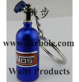Creative New NOS Mini Nitrous Oxide Bottle Keyring Key Chain Ring Keyfob Stash Pill Box Storage Turbo Keychains